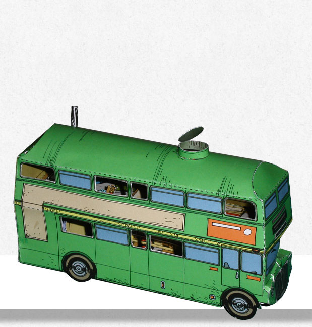 Papertoy Seuls - Le bus.