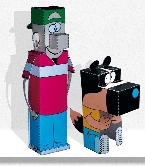 Papertoy Parker & Badger