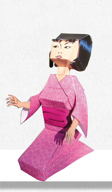 Papertoy Yoko Tsuno